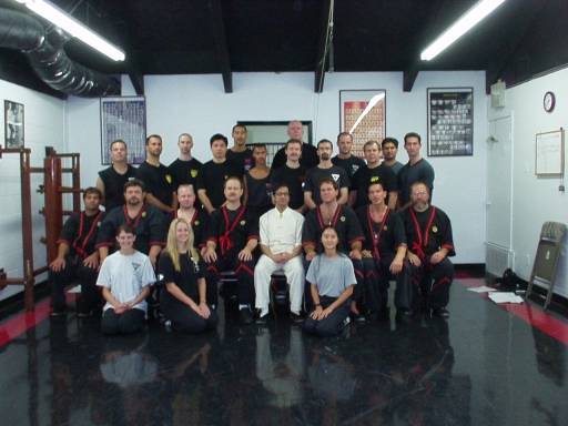 2001 Wing Tsun Seminar in Austin with Grand-master Leung Ting. I'm standing in the back second from right to left.
